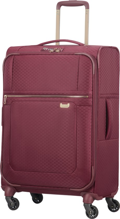 Samsonite Reiskoffer - Uplite Spinner 67/26 Uitbreidbaar (Medium) Burgundy/Gold
