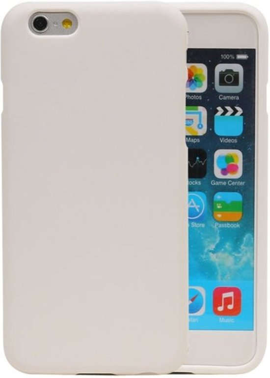 Wit Zand TPU back case cover hoesje voor Apple iPhone 6 / 6s