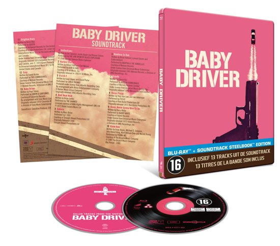 Baby Driver (Steelbook inclusief Soundtrack) (Blu-ray)