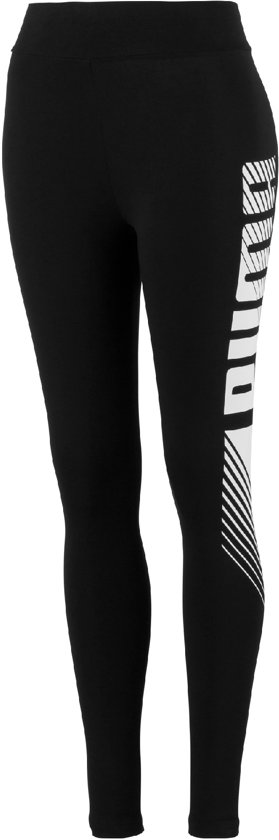 PUMA ESS+ Graphic Leggings Dames Sportlegging - Puma Black - Maat S