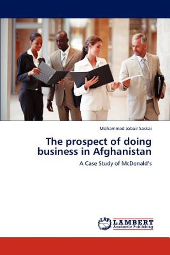 The Prospect of Doing Business in Afghanistan
