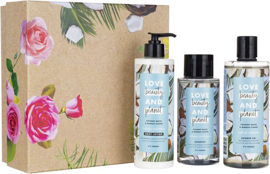Love Beauty and Planet Luxe Geschenkset Coconut Water & Mimosa Flower - Kerstcadeau