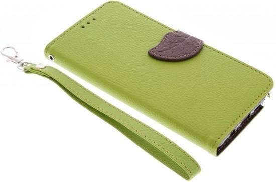 Conception Feuille Verte Cas Booktype Tpu Pour La Mini-samsung Galaxy S GgFT4