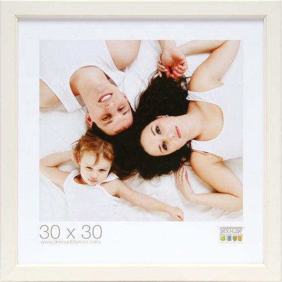 Bolcom Deknudt Frames Fotokader Met Biesje Wit Fotomaat 30x30 Cm