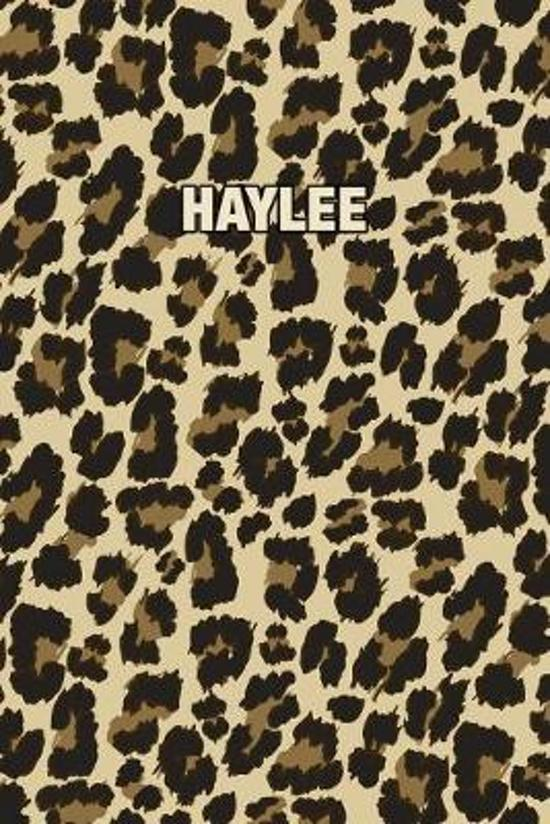 Haylee: Personalized Notebook - Leopard Print (Animal Pattern). Blank College Ruled (Lined) Journal for Notes, Journaling, Dia