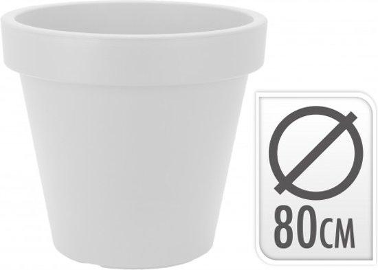 Plastic Bloempot Wit.Bol Com Kunststof Bloempot Rond Wit 80cm Per Twee Verpakt