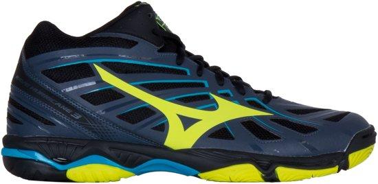 Mizuno Wave Hurricane 3 Mid grijs indoor schoenen heren (V1GA174547)