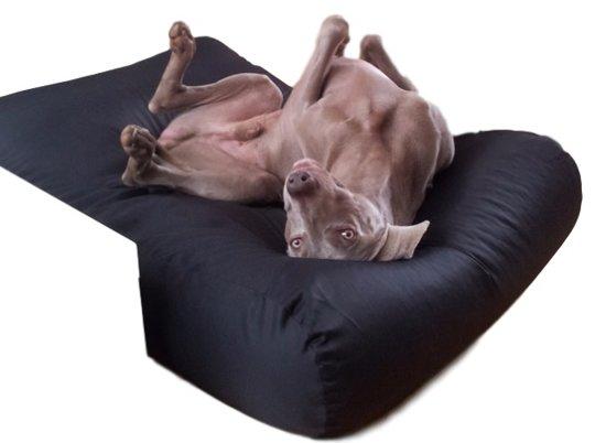 Dog's Companion Hondenkussen - L - 115 x 85 cm - Zwart Coating