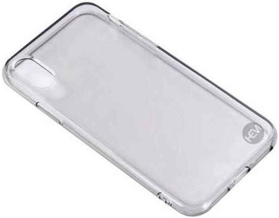 iPhone X/XS siliconenhoesje zwart transparant / Siliconen Gel TPU / Back Cover / Hoesje Iphone X/XS zwart doorzichtig
