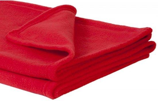 Rode Fleece Deken.Bol Com Rode Deken Plaid