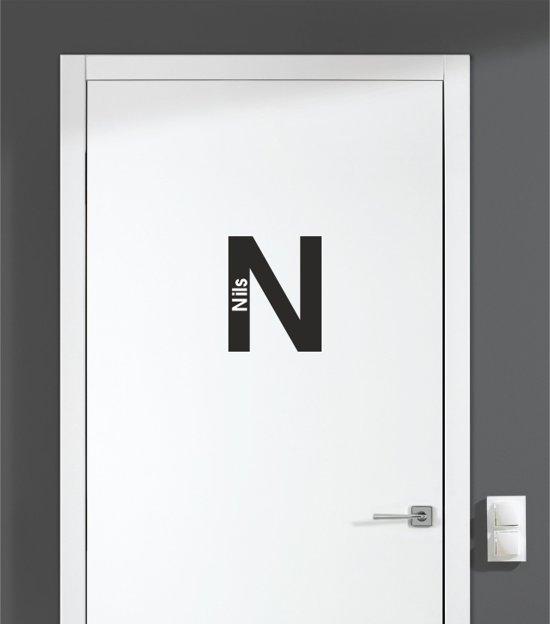 Deursticker - Nils - Zwart 12x15