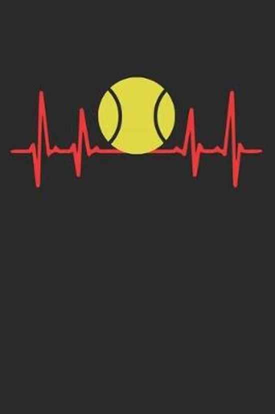Tennis heartbeat: Calendar, weekly planner, diary, notebook, book 105 pages in softcover. One week on one double page. For all appointme