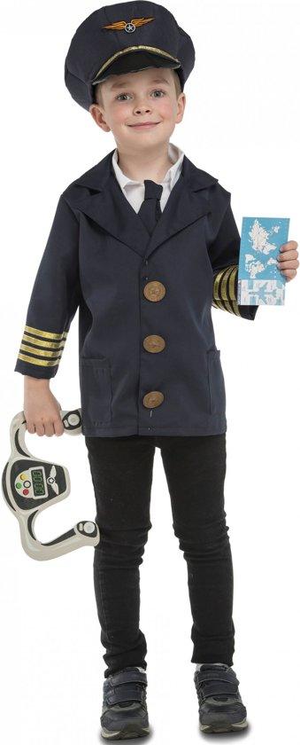 Vliegtuig piloot kostuum met accessoires voor kinderen - Verkleedkleding