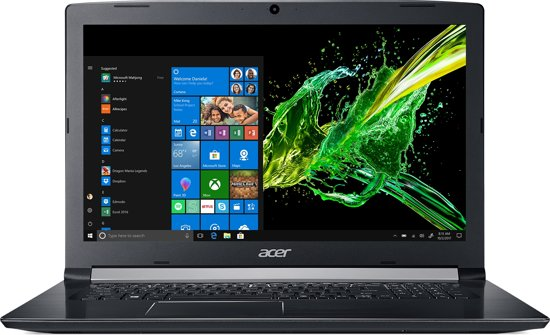 Acer Aspire 5 A517-51G-85RS - GeForce MX150, 8 GB RAM, 256 GB SSD, 1 TB HDD, 17.3 inch