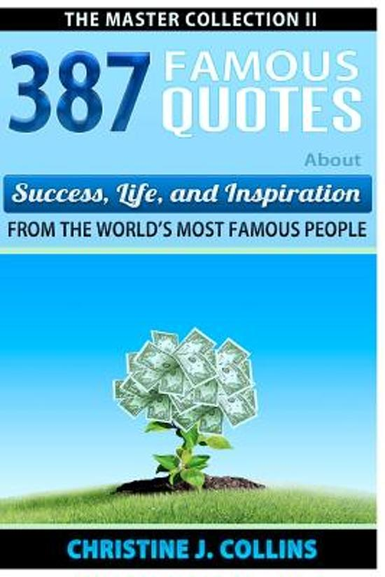 Bol Com 387 Famous Quotes About Success Life Inspiration From