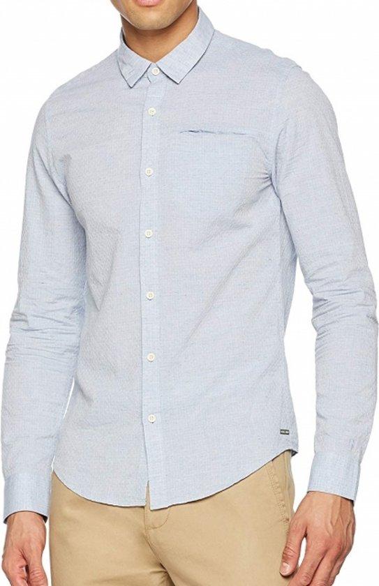 Lichtblauw Overhemd.Bol Com Garcia Lichtblauw Overhemd