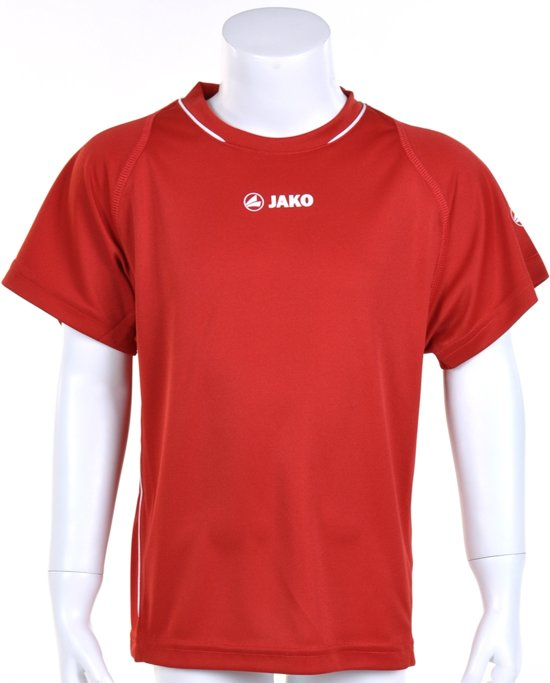 Jako Shirt Fire KM - Sportshirt - Kinderen - Maat 164 - Red;White