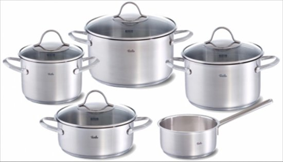 Fissler paris pannenset, 5-delig, satinated