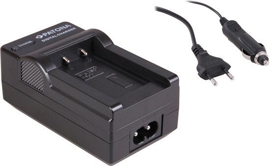 Charger Casio Exilim EX-Z150 Z155 Z250 NP70 NP-70 incl. car adapter (12V)