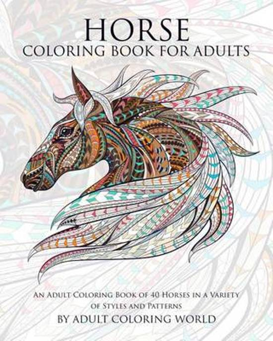 Bol Com Horse Coloring Book For Adults 9781519798824 Adult