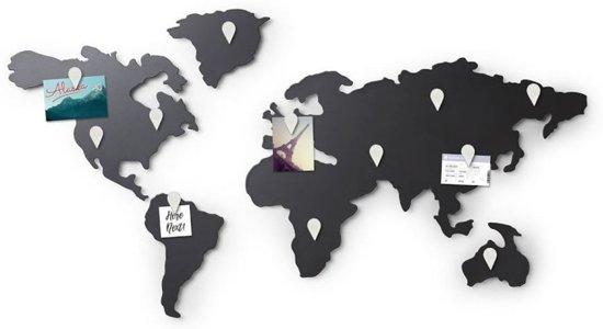 Umbra metalen wereldkaart Mappit memo board