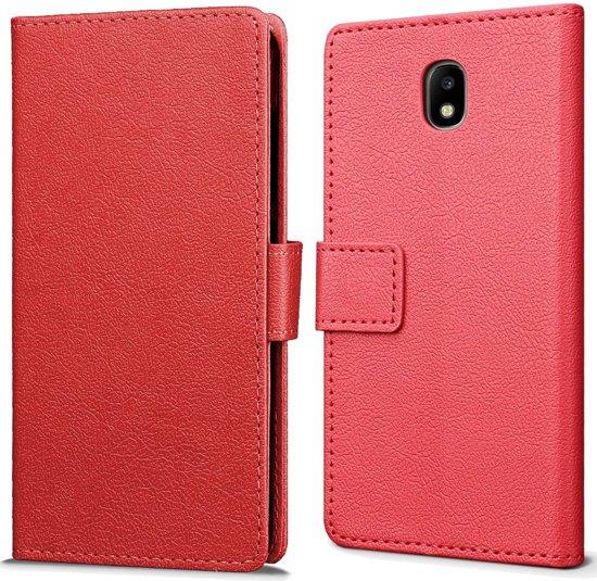 Samsung Galaxy J5 (2017) hoesje - Book Wallet Case - rood in Soiron