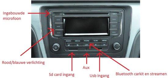golf 5 radio cd speler bluetooth carkit usb aux. Black Bedroom Furniture Sets. Home Design Ideas