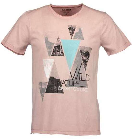 Heren Shirt printMaat Seven Blue Zalm L 1clTFKJ3