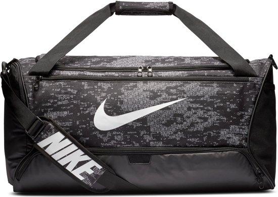 Nike  Brsla M Duff - 9.0 Aop Unisex Sporttas - Black/Black/(White) - Maat OSFA