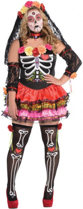 Dames kostuum Day of the Dead Size S