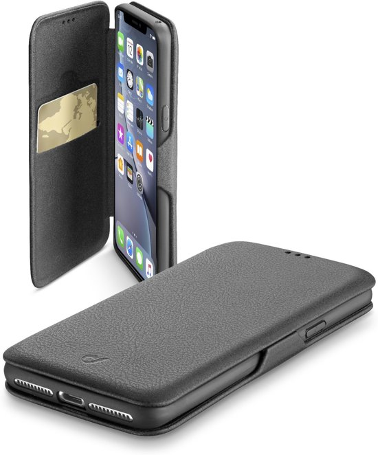 Cellularline Book Clutch IPhone XR -  mobiele telefoon behuizingen Flip case Zwart