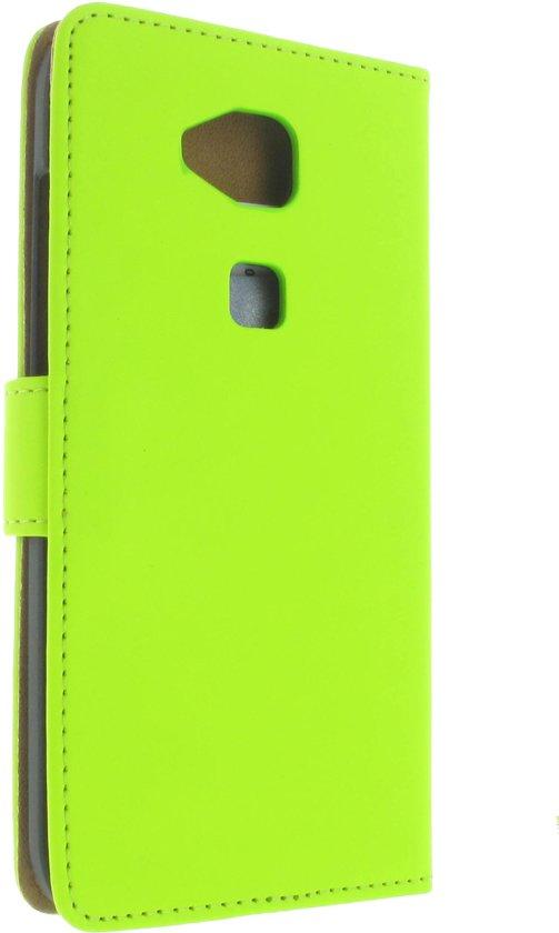 Huawei G8 Hoesje met Opbergvakjes Groen