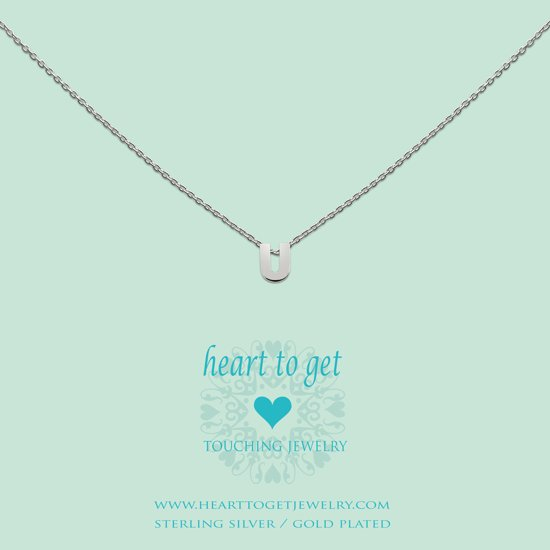 Heart to get Inital, silver,  letter U