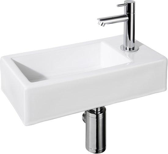 bolcom  Differnz Helios Fontein Toilet Rechts  Set  36 x 18 cm  Keramiek # Plieger Wasbak_014025