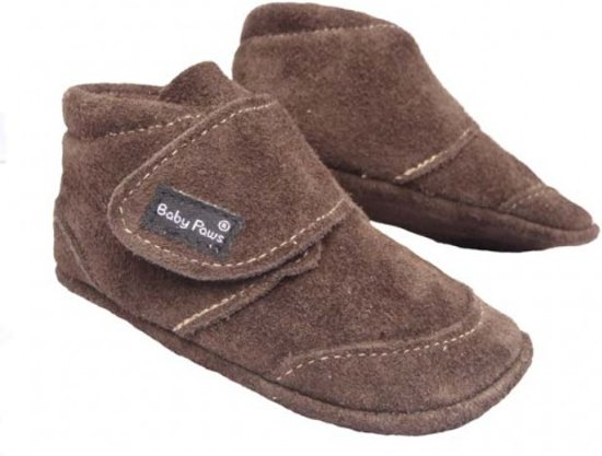 Baby Paws babyslofjes Ray Choco Suede maat 0 = ( 9,5 cm)
