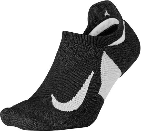 Nike Dry Elite Cushioned No-Show Enkelsokken Hardloopsokken - Maat 41-43 - Unisex - zwart/wit