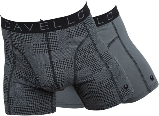 Cavello Boxers Patchwork & Grey 2-pack Heren - Grijs - M