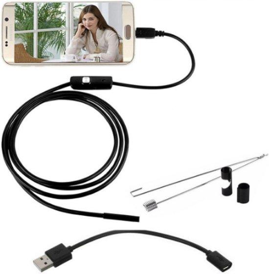 Endoscope LED 1 meter - Inspectiecamera - Android telefoon- 7 mm kop
