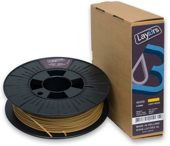 Lay3rs Woodfill Light Wood - 1.75 mm