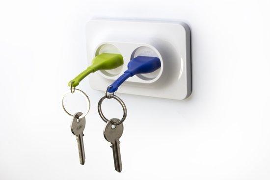 Qualy Unplug Sleutelhanger duo - Blauw