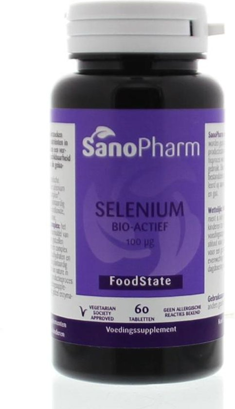 SanoPharm Selenium 100 mcg 60 tabletten