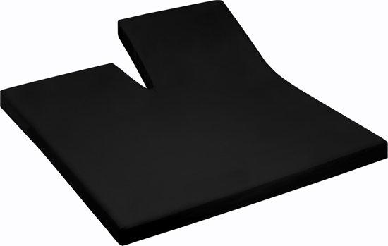 Damai - Hoeslaken split (tot 35 cm) - Katoen - 180 x 220 cm - Black