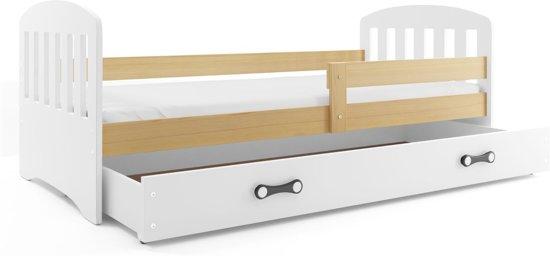Wonderbaarlijk bol.com | Klassiek Peuterbed Hout 80 x 160 cm - Houten bed met CJ-44