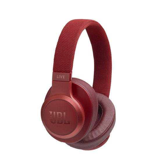 JBL Live 500BT Rood - Over-ear bluetooth koptelefoon