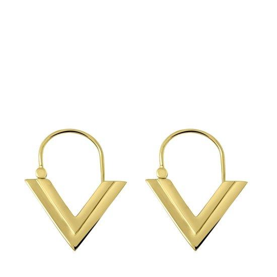 Lucardi - Goldplated oorbellen V