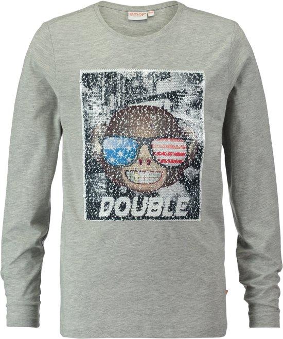 79112b44c4ac51 CoolCat Jongens T-shirt- Licht Grijs Melange - 122 128