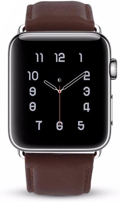 Leren Bandje - Bruin - Voor Apple Watch - 42/44 mm