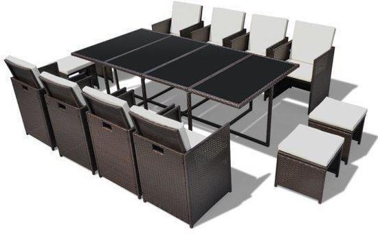 Wicker Eettafel Set Met 8 Stoelen En 4 Krukken Zwart.Bol Com Vidaxl Tuinset 40728 Wicker Eettafel Set Met 8 Stoelen