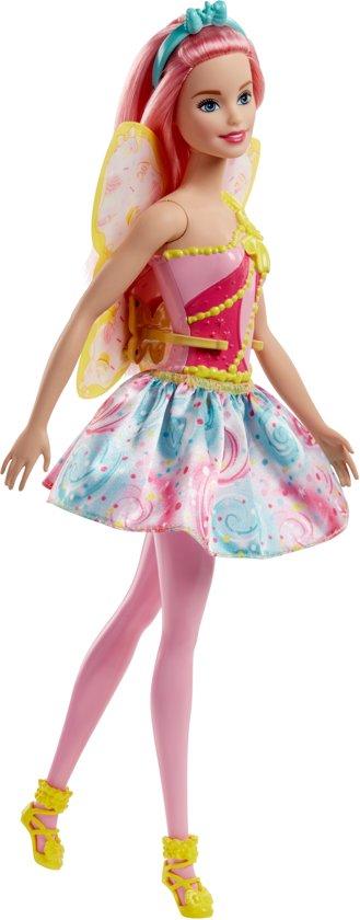 Barbie Dreamtopia Fee Roze Haar- Barbiepop