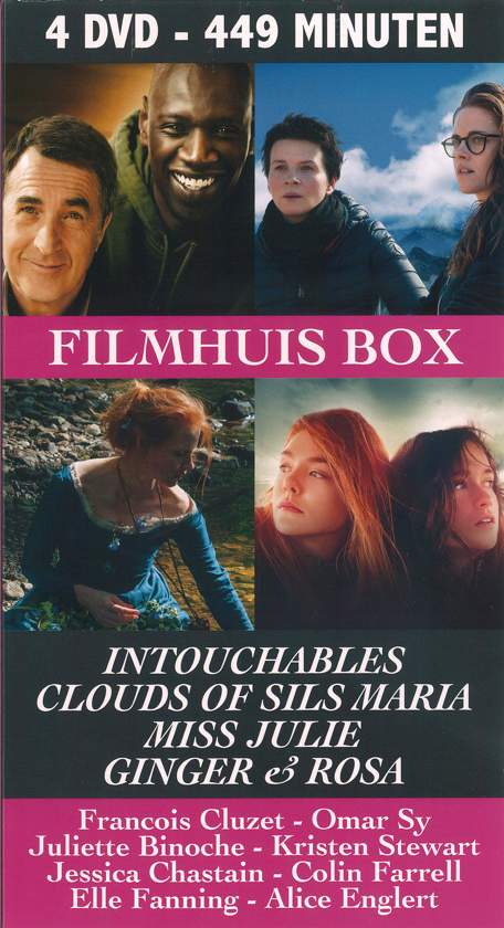 Filmhuis Box (4 DVD) Intouchables - Clouds of Sils Maria - Miss Julie - Ginger & Rosa